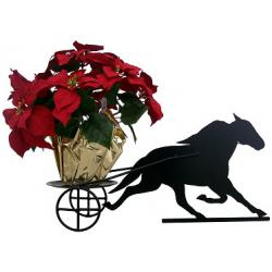 Flower Pot Holder Standardbred w/Race Cart